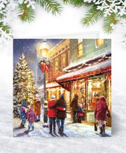 Christmas Eve Shopping Christmas Card S0001