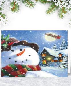 Festive Snowman Christmas Card
