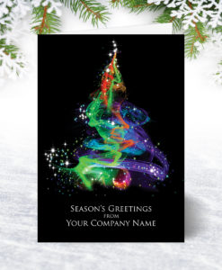 Aurora Tree Christmas Card