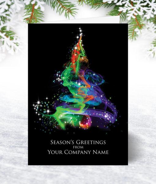 Aurora Tree Christmas Card