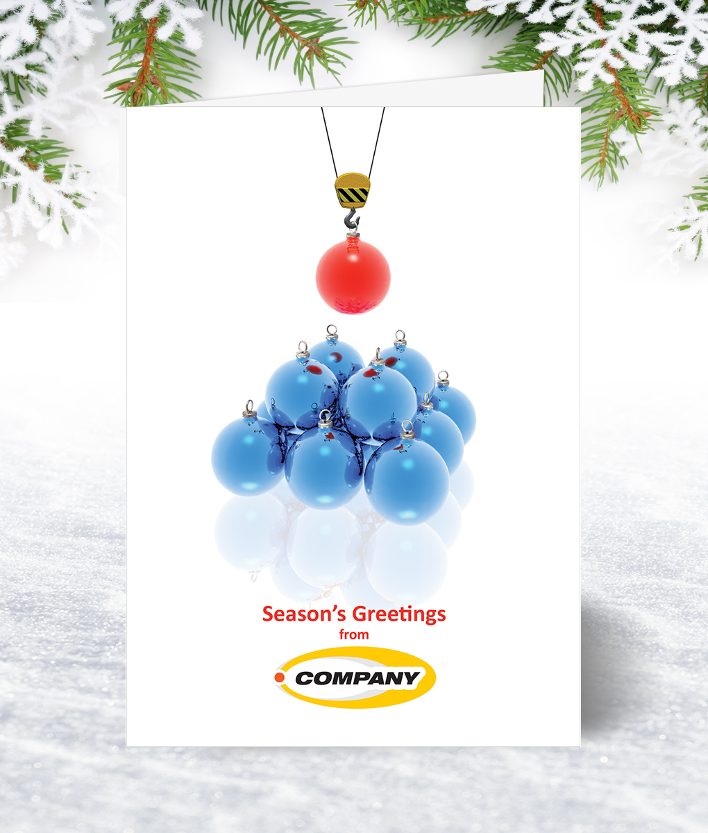 Bauble Construction Christmas Card Corporate Collection