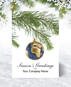Bauble Globe Christmas Card