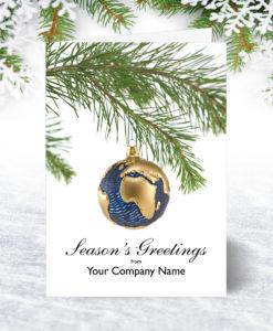 Bauble Globe Christmas Card