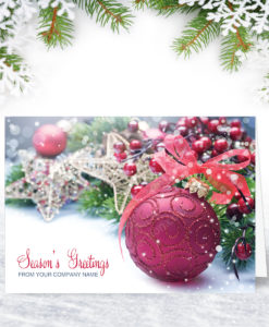 Bauble and Berries Christmas Card