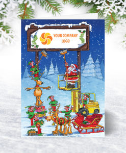 Christmas Billboard Forklift Christmas Card