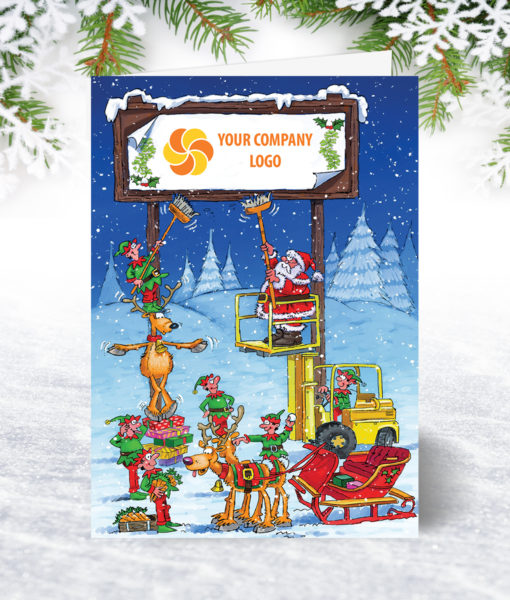 Christmas Billboard Forklift Christmas Card