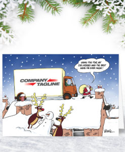 Express Delivery Christmas Card