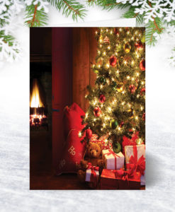 Fireside Glow Christmas Card