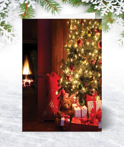 Fireside Glow Christmas Card