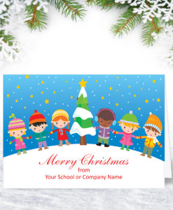 Holding Hands Christmas Card