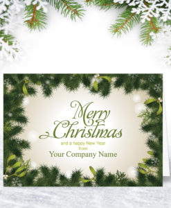 Mistletoe Border Christmas Card