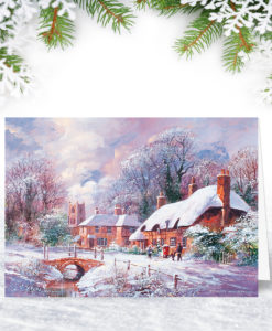 Morning Snowfall Christmas Card