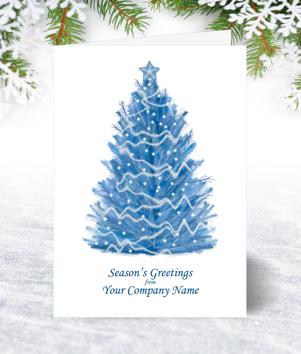 Pastel Blue Tree Corporate Collection