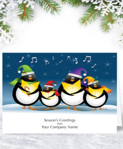 Penguin Choir Christmas Card