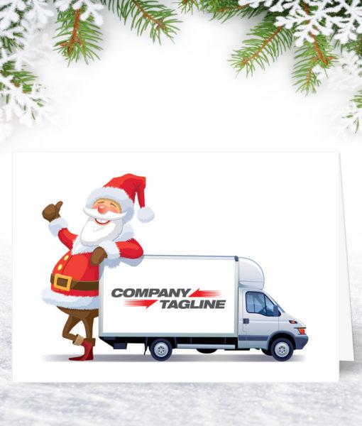 Santa's Lorry Christmas Card