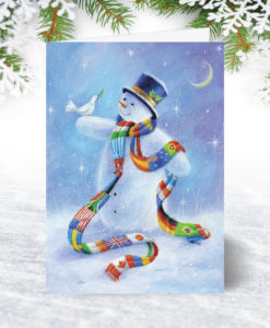 Snowman of the World Christmas Card