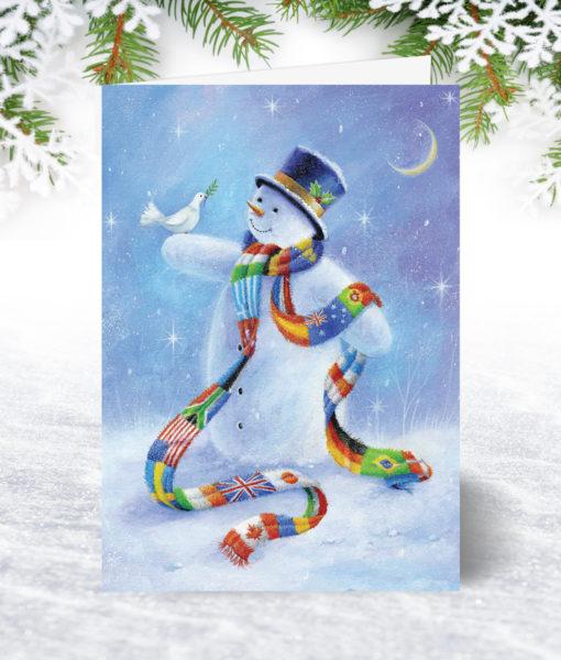 Snowman of the World Christmas Card