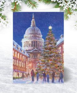 Snowy St Pauls Christmas Card