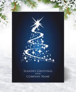 Sparkling Tree Christmas Card U0048