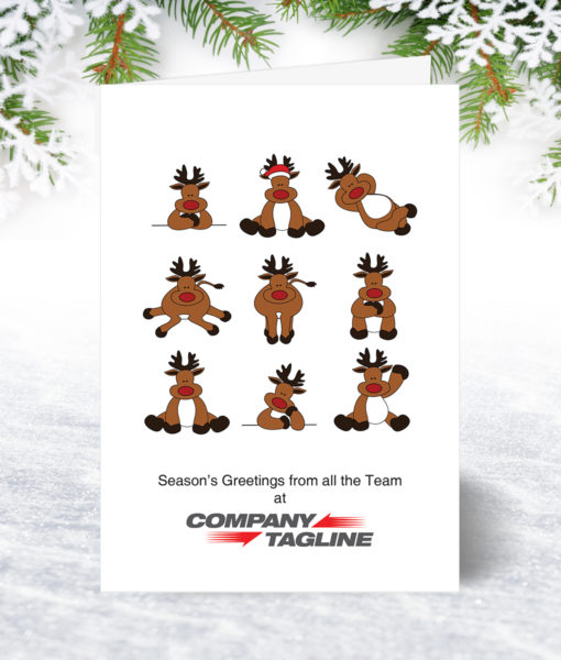 Team Reindeer Christmas Card