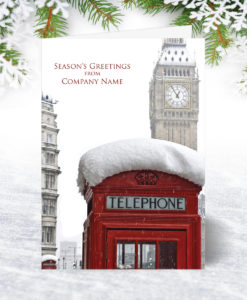 Telephone Box and Big Ben Christmas Card