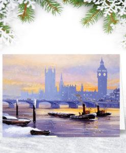 Tugs on the Thames Christmas Card