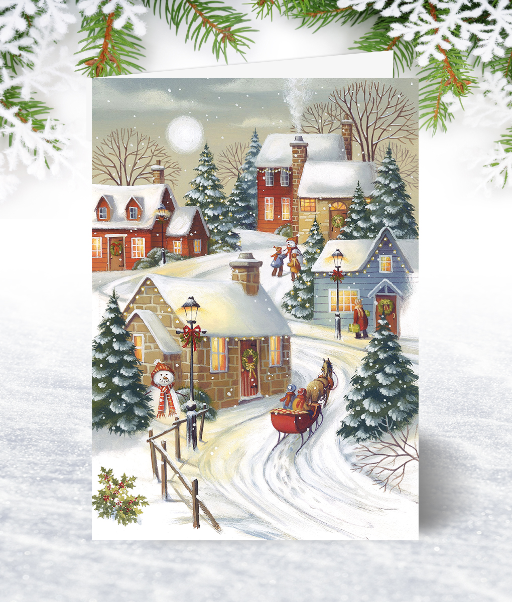 Village Sleigh Ride - Corporate Collection