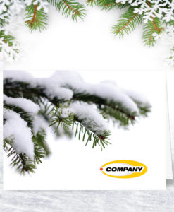 Winter Fir Christmas Card L0019