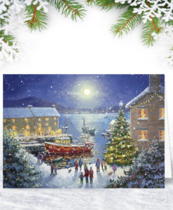 Winter Harbour Christmas Card