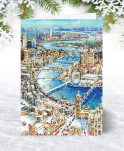 Winter on the Thames Christmas Card