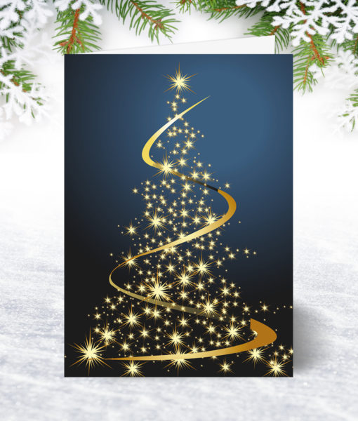 Glittering Tree Christmas Card
