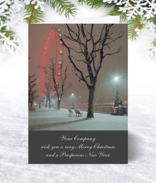 London Snow Christmas Card