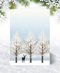 Lone Deer Christmas Card