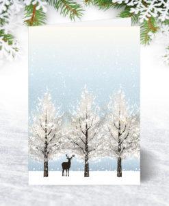 Lone Deer Christmas Card