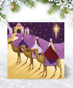 S0084 Thre Kings under a Star Christmas Card