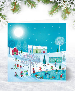 S0091 Fun on a Frozen Pond Christmas Card