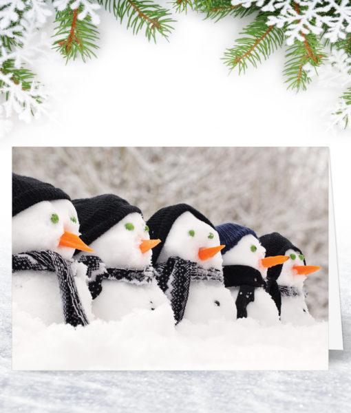 Snowman Row Christmas Card