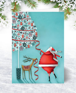 U0092 Santas Tree Christmas Card