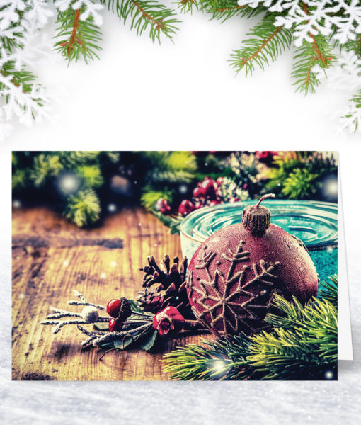 A Christmas Scene Corporate Christmas Card