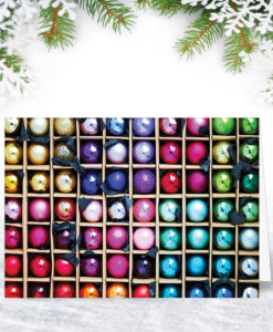 Box of Baubles Baubles Christmas Card