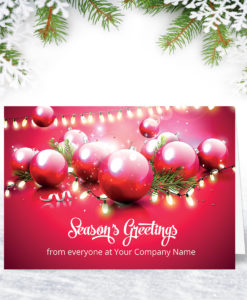 In the Pink Christmas Card Design