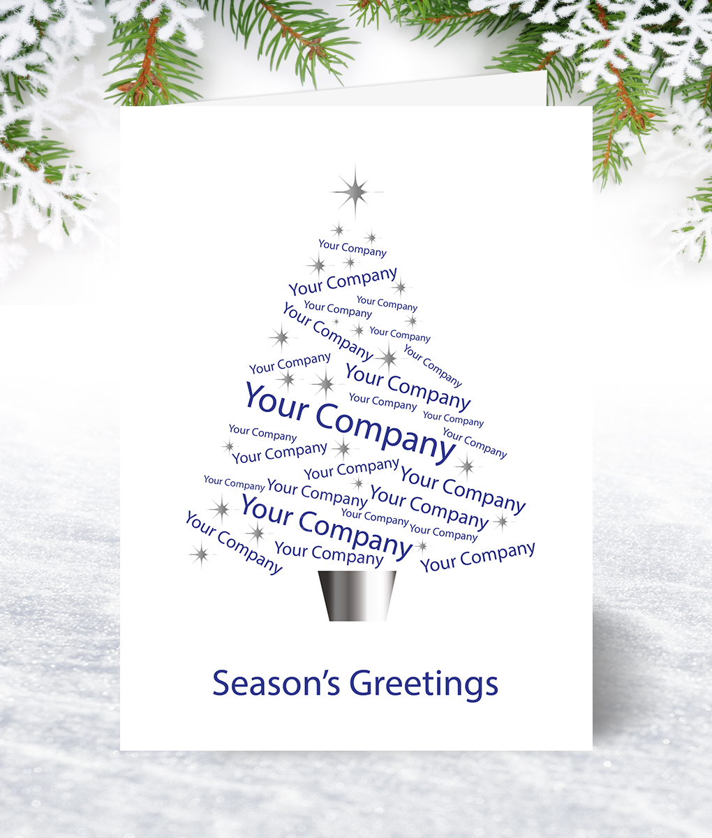 Sparkle Tree Blue Corporate Collection