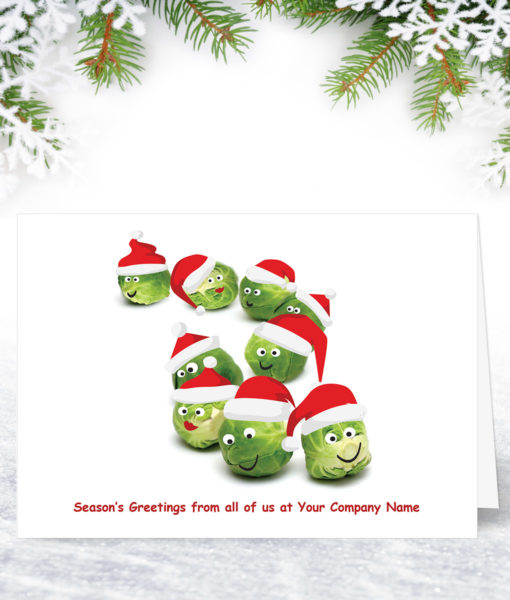 Sprout Conga Funny Christmas Card