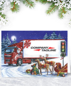 Next Stop Christmas Lorry Design Christmas Card
