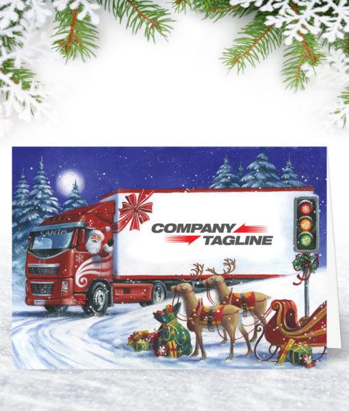 Next Stop Christmas Lorry Design Christmas Card