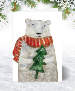 Bear and Tree Christmas Card