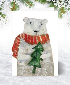 Bear and Tree Christmas Card