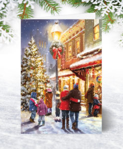 Christmas Eve Shopping Christmas Card