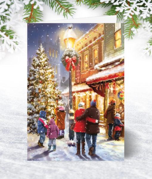 Christmas Eve Shopping Christmas Card