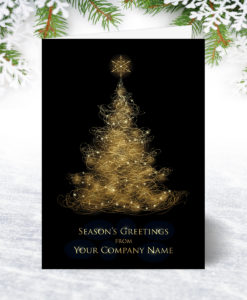 Illuminated Tree Christmas Card